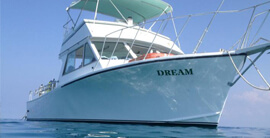 "Charter Dream. A custom built 40""dive boat."